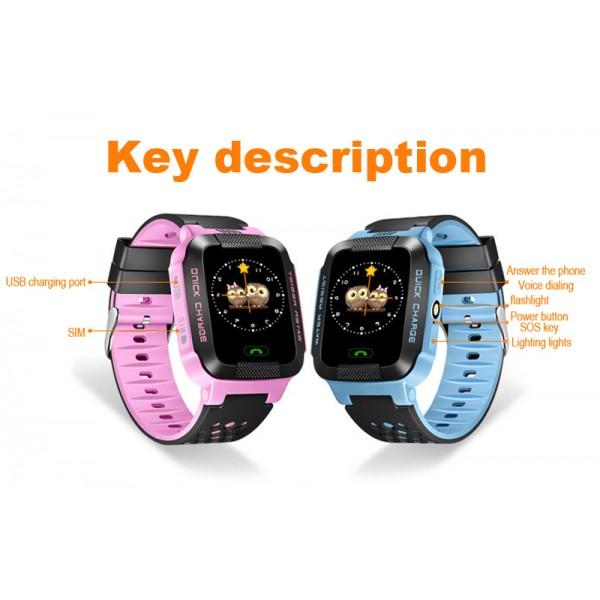 Водоустойчив GPS часовник -Детски -SOS повикване -Micro SIM за Andrioid и IOS,Y21 12