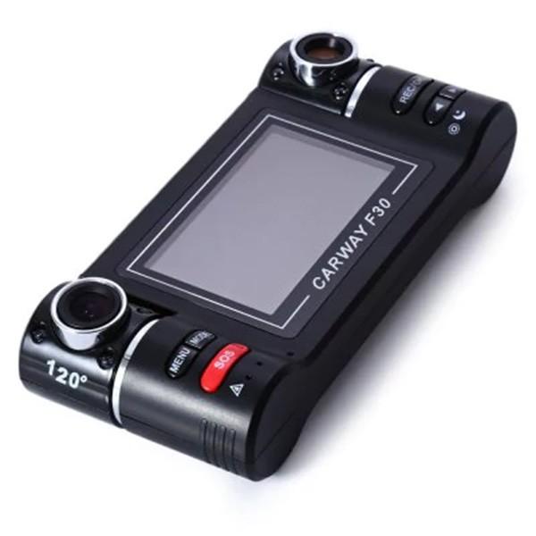 Двоен видеирегистратор с телеобектив HD нощен запис сензор за движение AC48 4