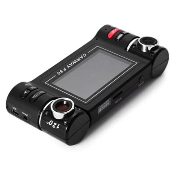 Двоен видеирегистратор с телеобектив HD нощен запис сензор за движение AC48 5