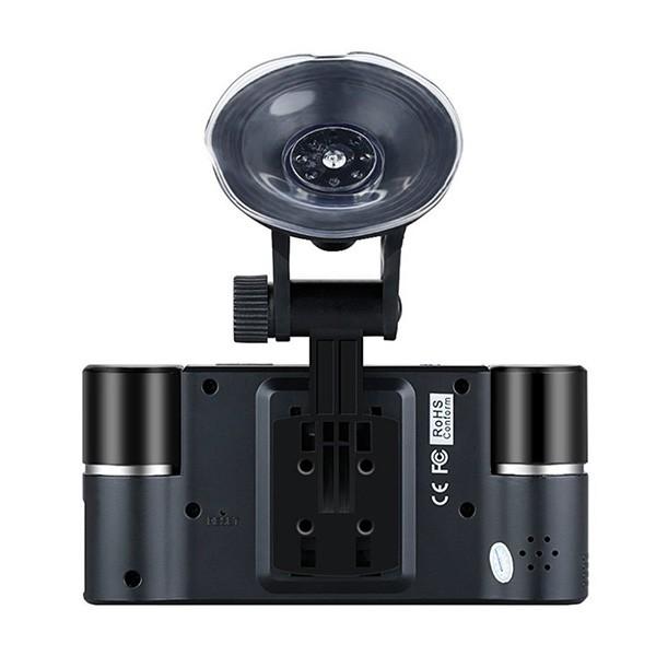 Двоен видеирегистратор с телеобектив HD нощен запис сензор за движение AC48 11