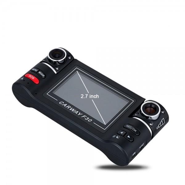 Двоен видеирегистратор с телеобектив HD нощен запис сензор за движение AC48 14