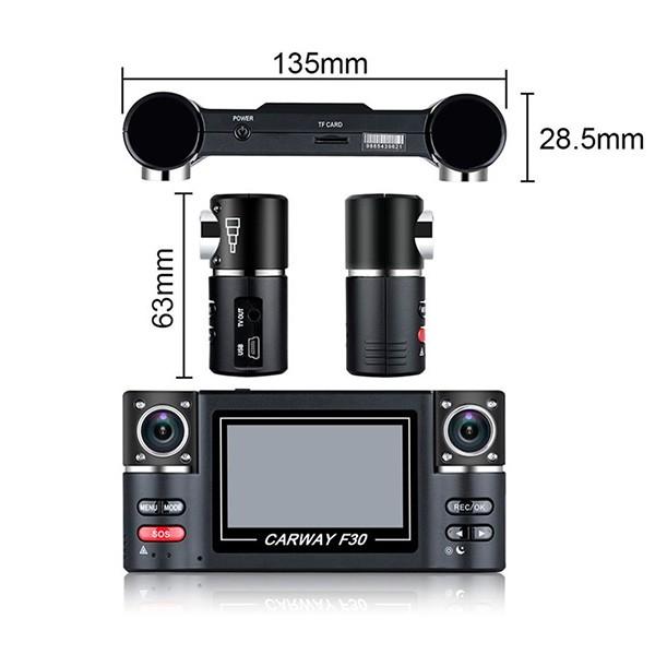 Двоен видеирегистратор с телеобектив HD нощен запис сензор за движение AC48 15