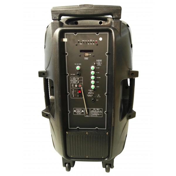 Bluetooth Караоке тонколона 15 инча 150W с микрофон FM LCD SD/MMC карта VKK15 5