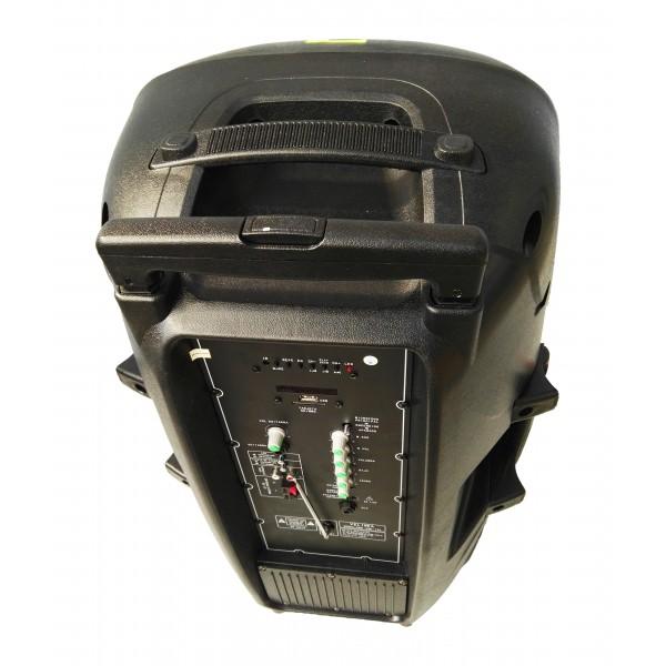 Bluetooth Караоке тонколона 15 инча 150W с микрофон FM LCD SD/MMC карта VKK15 4