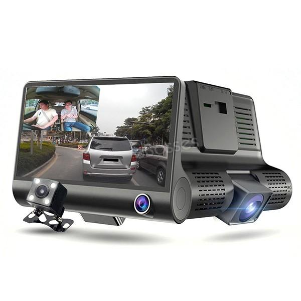 Видеорегистратор Full HD 1080P с 3 камери, дисплей 4 инча и нощен HDR запис AC50