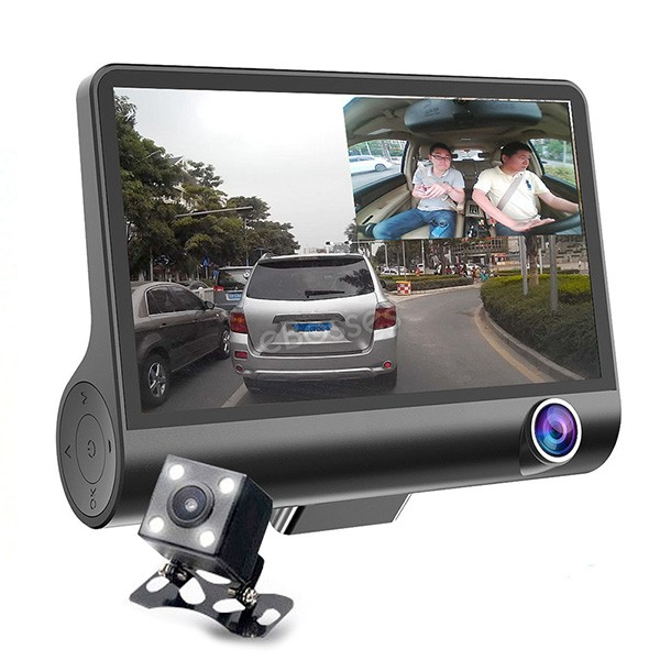 Видеорегистратор Full HD 1080P с 3 камери, дисплей 4 инча и нощен HDR запис AC50 4