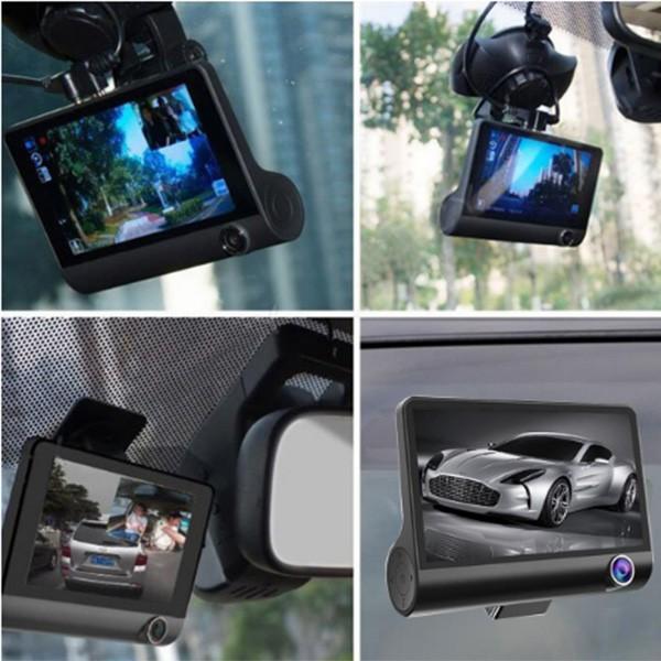 Видеорегистратор Full HD 1080P с 3 камери, дисплей 4 инча и нощен HDR запис AC50 8