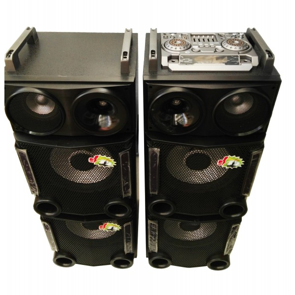 Колона - Cafini -двойна - 12 инча ултра бас и качество - 2 микрофона S2446 5