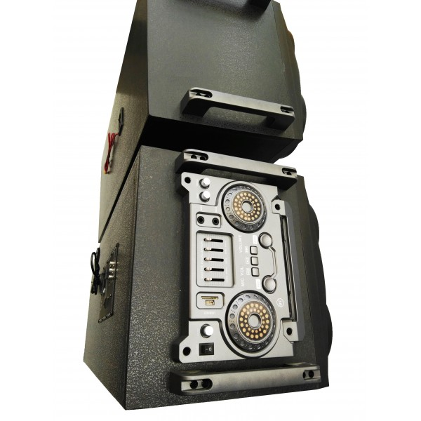 Колона - Cafini -двойна - 12 инча ултра бас и качество - 2 микрофона S2446 6