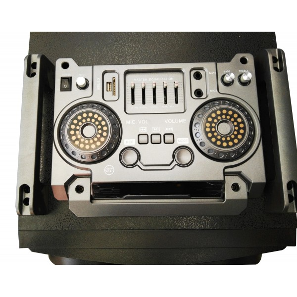 Колона - Cafini -двойна - 12 инча ултра бас и качество - 2 микрофона S2446 2