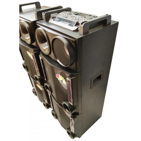 Колона - Cafini -двойна - 12 инча ултра бас и качество - 2 микрофона S2446 3