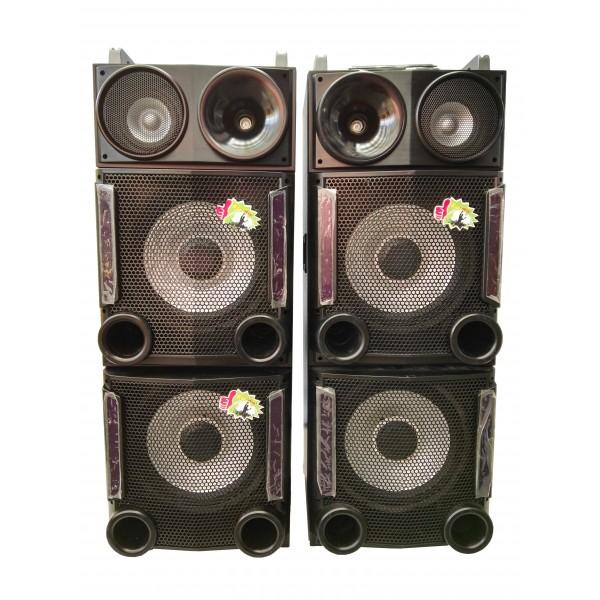 Колона - Cafini -двойна - 12 инча ултра бас и качество - 2 микрофона S2446