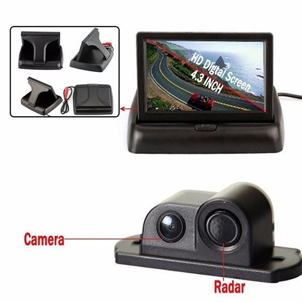 Камера за заден ход с радар и паркинг сензор, 4,3 инча монитор, нощно виждане PK5 7