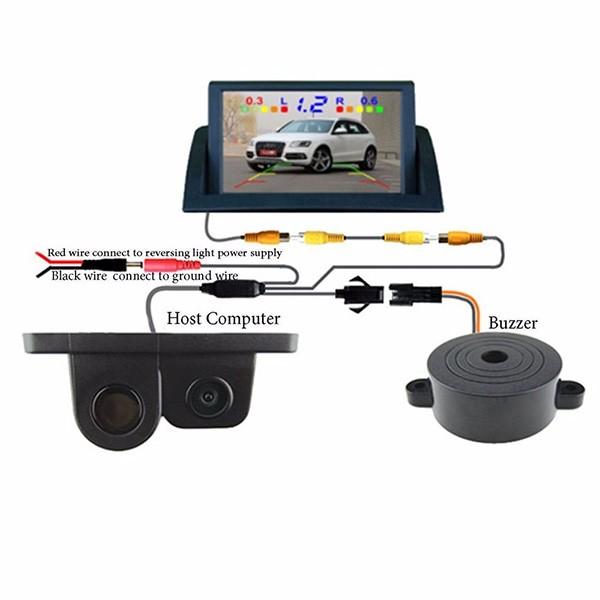 Камера за заден ход с радар и паркинг сензор, 4,3 инча монитор, нощно виждане PK5 8