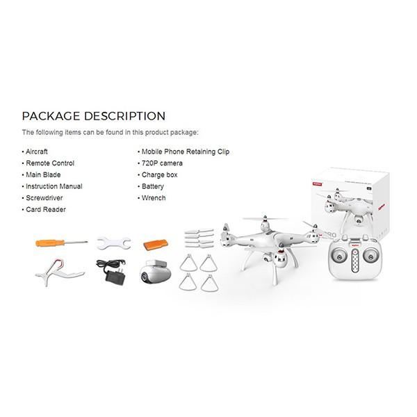 Квадрокоптер Syma X8PRO с GPS модул, безжична камера и автоматично връщане 8