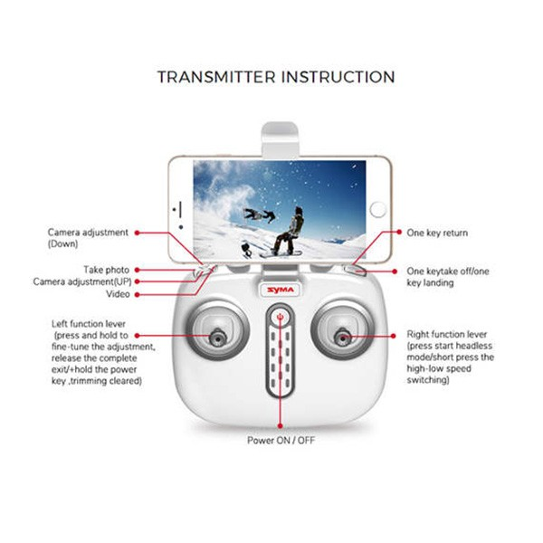 Квадрокоптер Syma X8PRO с GPS модул, безжична камера и автоматично връщане 9