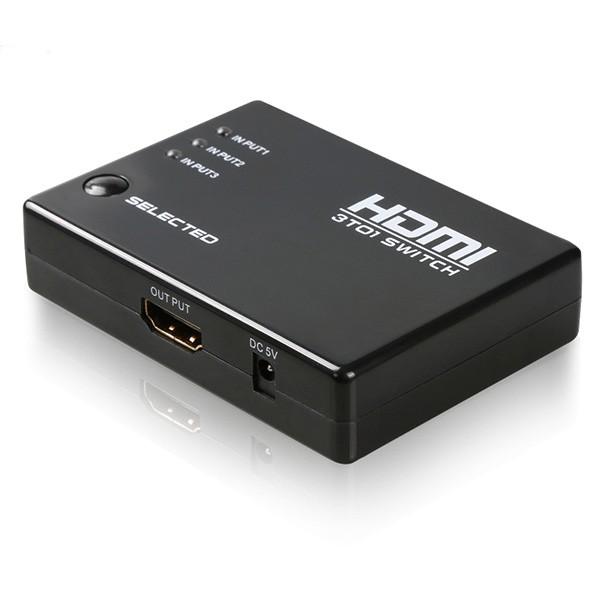 HDMI сплитер 3 в 1 с автоматично превключване и дистанционно управление CA56 6
