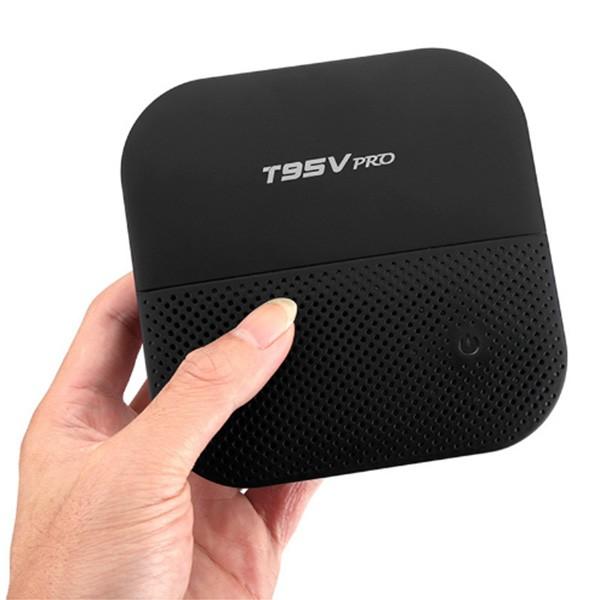 Android 7.1 ТВ Бокс T95V с мултиядрен процесор, 5G WiFi връзка, HDR и Bluetooth 4