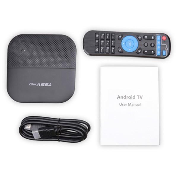 Android 7.1 ТВ Бокс T95V с мултиядрен процесор, 5G WiFi връзка, HDR и Bluetooth 6