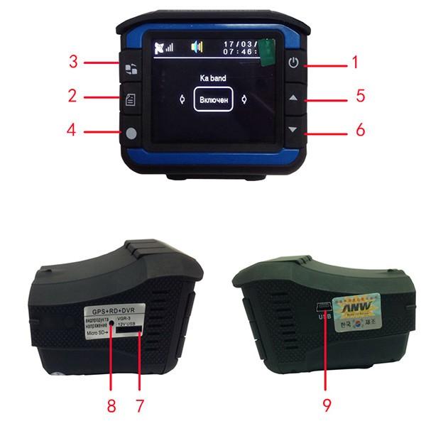 Видеорегистратор 2 в 1 с радар за скорост AC53 7