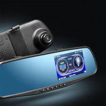 DVR тип огледало с радар GPS HD камери функция за нощен запис и 4.3 дисплей