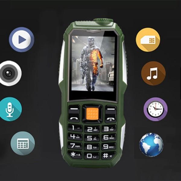 Водоустойчив и противоударен телефон F88 с 2 сим карти, 5MPX камера, голям обхват 8