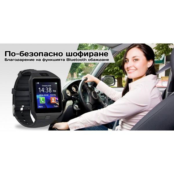 Смарт Часовник телефон с камера и сим карта Оригинален продукт dz09 на Български 5