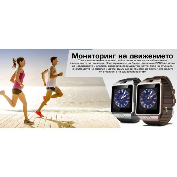 Смарт Часовник телефон с камера и сим карта Оригинален продукт dz09 на Български 4