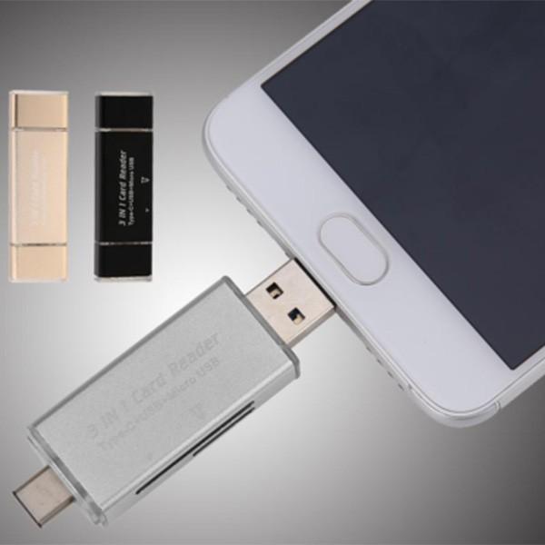 Удобен четец за устройства с USB-портове SD и micro SD карти CA96 2