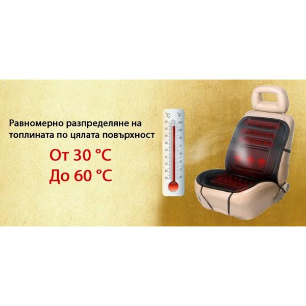 Подгряваща седалка за кола 12v подложка от 30 до 60 градуса Плюшена CAR SEAT TOP2 1