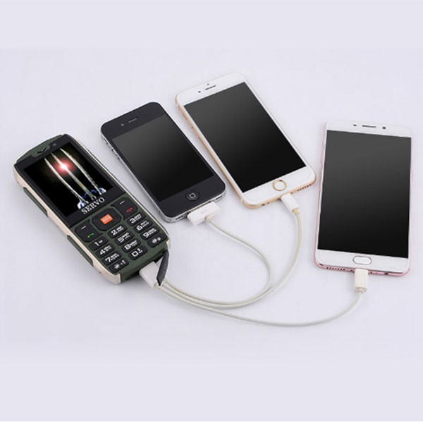 Прахоустойчив телефон за 4 сим карти Servo H8 с Bluetooth, Usb, камера 4