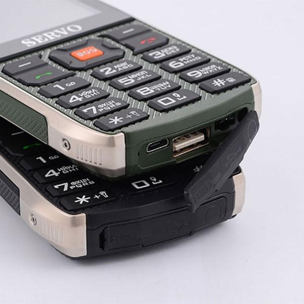 Прахоустойчив телефон за 4 сим карти Servo H8 с Bluetooth, Usb, камера 5