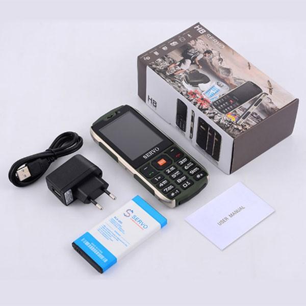 Прахоустойчив телефон за 4 сим карти Servo H8 с Bluetooth, Usb, камера 6