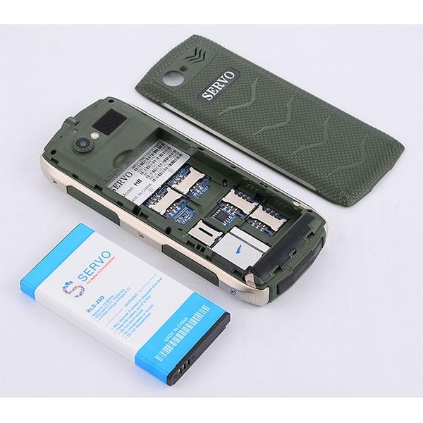 Прахоустойчив телефон за 4 сим карти Servo H8 с Bluetooth, Usb, камера 7
