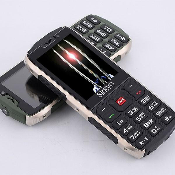 Прахоустойчив телефон за 4 сим карти Servo H8 с Bluetooth, Usb, камера 8