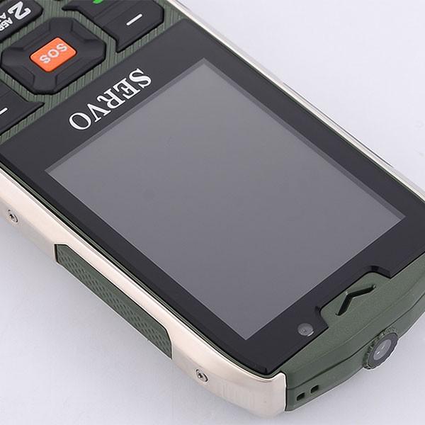 Прахоустойчив телефон за 4 сим карти Servo H8 с Bluetooth, Usb, камера 12