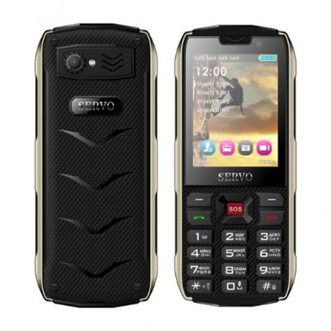 Прахоустойчив телефон за 4 сим карти Servo H8 с Bluetooth, Usb, камера