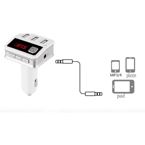 Зарядно с три USB 2.0 изхода радио плеър и хендсфрий за автомобил BC12 HF19 2