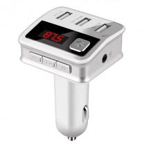 Зарядно с три USB 2.0 изхода радио плеър и хендсфрий за автомобил BC12 HF19