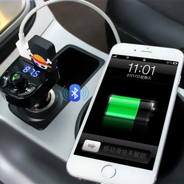 Мощно зарядно хендсфрий и плеър за автомобил с до 32 Gb външна памет HY82 HF22 8