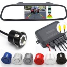 Видеорегистратор тип огледало за задно виждане с датчици за паркиране