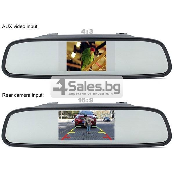 Видеорегистратор тип огледало за задно виждане с датчици за паркиране 7