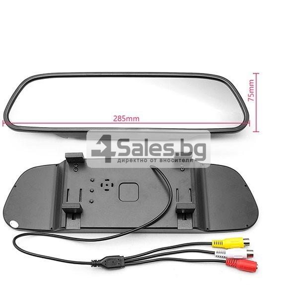 Видеорегистратор тип огледало за задно виждане с датчици за паркиране 8