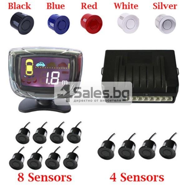 Паркинг асистент с 4 или6 или8 сензора и LED индикатор PK12