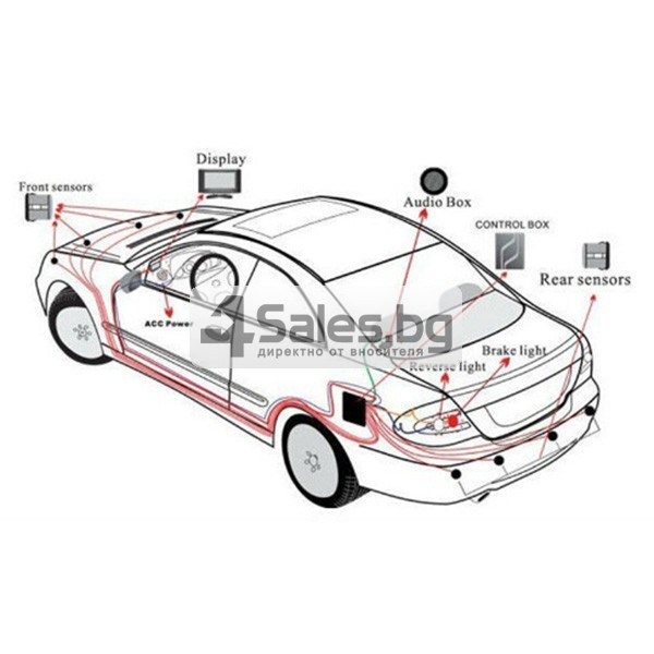 Паркинг асистент с 4 или6 или8 сензора и LED индикатор PK12 4
