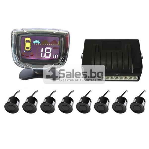 Паркинг асистент с 4 или6 или8 сензора и LED индикатор PK12 6