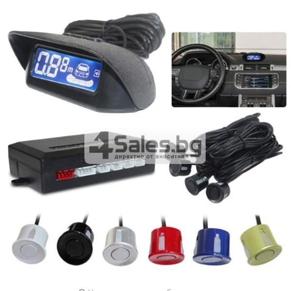 Паркинг асистент с 4 сензора и LED дисплей PK8-B