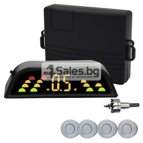 Четирисензорен парктроник с LED дисплей и универсална инсталация