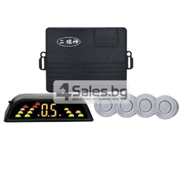 Четирисензорен парктроник с LED дисплей и универсална инсталация 3