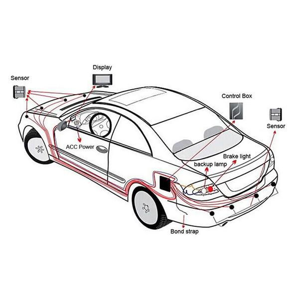Система за паркиране с осем предни и задни сензора PK6 10
